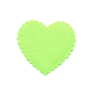 Applicatie hart groen vilt middel 35 x 35 mm (ca. 100 stuks)