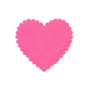 Applicatie hart fuchsia vilt middel 35 x 35 mm (ca. 100 stuks)