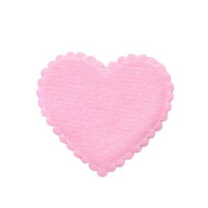 Applicatie hart roze vilt middel 35 x 35 mm (ca. 100 stuks)