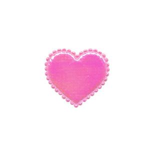 Applicatie glim hart roze klein 20 x 20 mm (ca. 100 stuks)