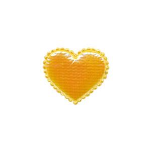 Applicatie glim hart geel klein 20 x 20 mm (ca. 100 stuks)