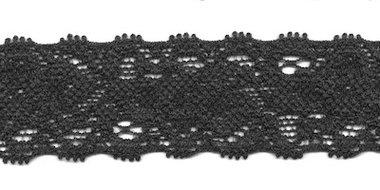 Elastisch kant zwart ca. 22 mm (ca. 10 m)