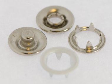 Babydrukker wit 9 mm, type #122 (ca. 100 stuks)
