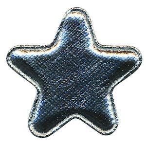 Applicatie glim ster zilver groot 40 mm (ca. 100 stuks)