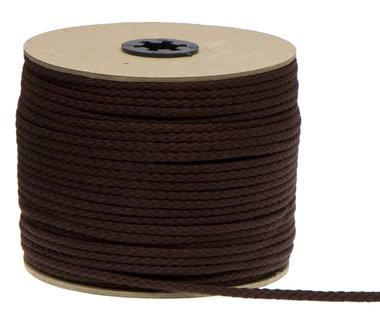 Katoenen koord donker bruin 5 mm (ca. 100 m)
