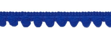 Bolletjesband kobalt blauw 10 mm (ca. 32 meter)