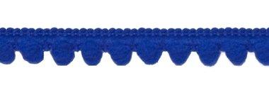Bolletjesband kobalt blauw 10 mm (ca. 32 meter)