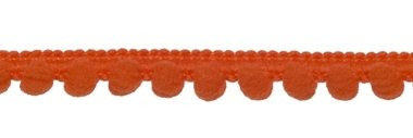 Bolletjesband oranje 10 mm (ca. 32 meter)