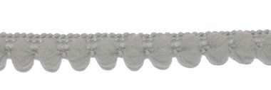 Bolletjesband grijs 10 mm (ca. 32 meter)