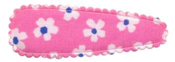 Haarkniphoesje roze met bloem 5 cm (ca. 100 stuks)