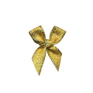 Strikje goud 20 x 30 mm (ca. 25 stuks)