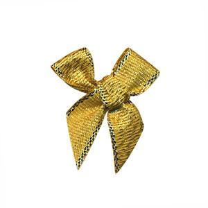 Strikje goud 25 x 35 mm (ca. 25 stuks)