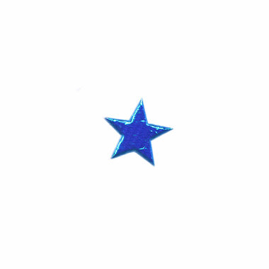 Applicatie glim ster blauw mini 13 mm (ca. 100 stuks)