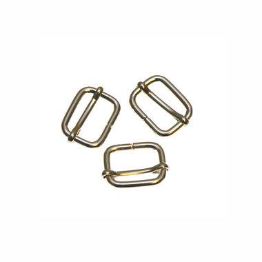 Metalen schuifgesp zilverkleurig 13 mm (10 stuks)
