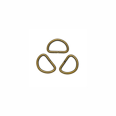 Metalen D-ring bronskleurig 15 mm (ca. 100 stuks)