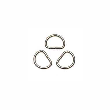 Metalen D-ring zilverkleurig 13 mm (ca. 100 stuks)