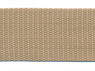 Tassenband 38 mm zand (ca. 50 m)