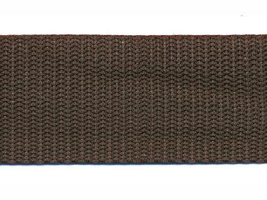 Tassenband 30 mm bruin  (50 m)