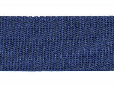 Tassenband 30 mm donker blauw (50 m)