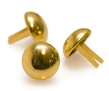 Metalen tasvoetjes goudkleurig 20 mm (ca. 100 stuks)