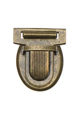 Metalen tas sluiting bronskleurig ca. 32x38 mm (10 stuks)