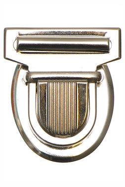 Metalen tas sluiting zilverkleurig ca. 43x53 mm (10 stuks)