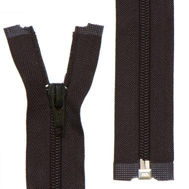 Deelbare nylon rits 5 mm zwart (#580) 65 cm (12 stuks)