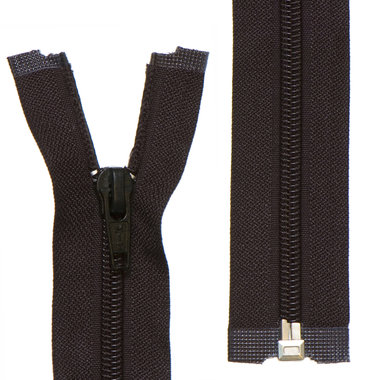 Deelbare nylon rits 5 mm zwart (#580) 40 cm (12 stuks)