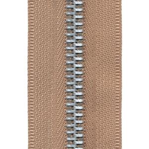 Metalen rits beige/zandkleurig #573 met aluminium tanden maat 5 (ca. 5 m)