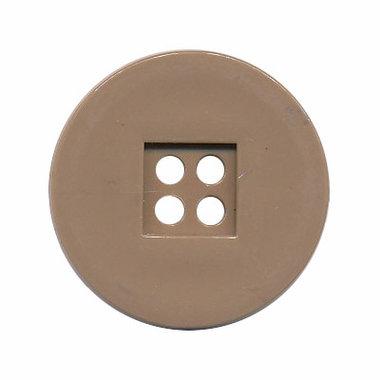 Knoop retro licht bruin 25 mm (ca. 25 stuks)