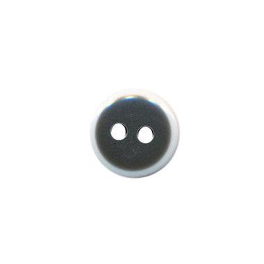 Knoop zwart met witte rand 11 mm (ca. 100 stuks)