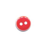 Knoop rood met witte rand 11 mm (ca. 100 stuks)