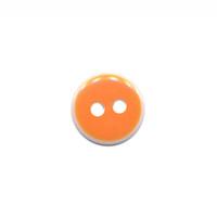 Knoop oranje met witte rand 11 mm (ca. 100 stuks)