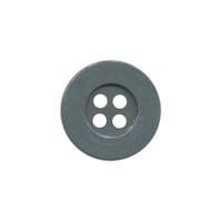 Knoop eenvoudig antraciet 15 mm (ca. 100 stuks)