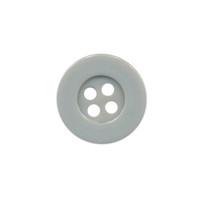 Knoop eenvoudig grijs 15 mm (ca. 100 stuks)