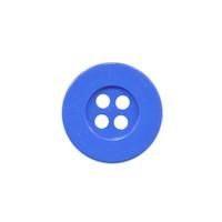 Knoop eenvoudig kobalt blauw 15 mm (ca. 100 stuks)