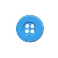 Knoop eenvoudig blauw 15 mm (ca. 100 stuks)