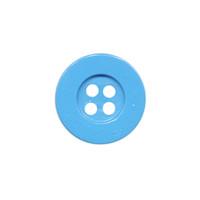 Knoop eenvoudig aqua 15 mm (ca. 100 stuks)