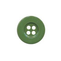 Knoop eenvoudig legergroen 15 mm (ca. 100 stuks)