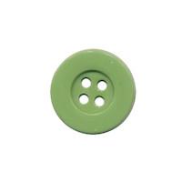 Knoop eenvoudig olijfgroen 15 mm (ca. 100 stuks)
