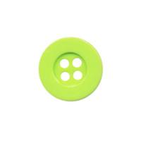 Knoop eenvoudig gifgroen 15 mm (ca. 100 stuks)