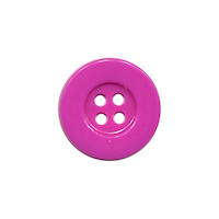 Knoop eenvoudig licht paars 15 mm (ca. 100 stuks)