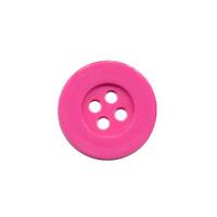 Knoop eenvoudig hard roze 15 mm (ca. 100 stuks)