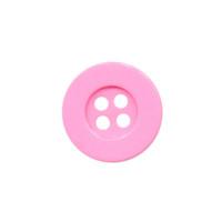 Knoop eenvoudig licht roze 15 mm (ca. 100 stuks)