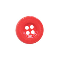 Knoop eenvoudig rood 15 mm (ca. 100 stuks)