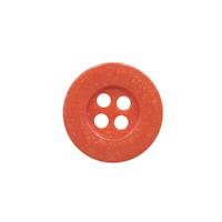 Knoop eenvoudig koraal/oranje 15 mm (ca. 100 stuks)