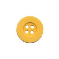 Knoop eenvoudig warm geel 15 mm (ca. 100 stuks)