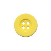 Knoop eenvoudig zacht geel 15 mm (ca. 100 stuks)