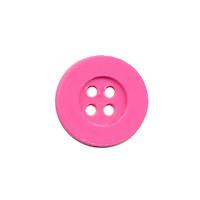 Knoop eenvoudig roze 15 mm (ca. 100 stuks)