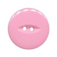 Knoop licht roze met 2 gaten 25 mm (ca. 25 stuks)